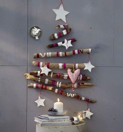 оригинальная елка из веток своими руками к празднику