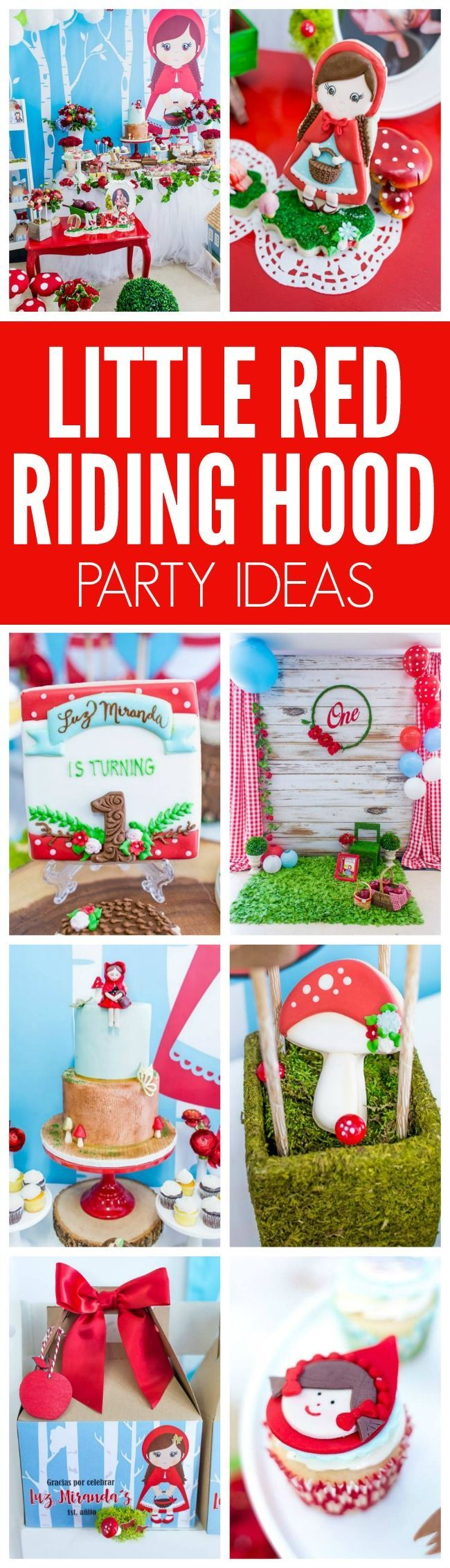 Adorable Little Red Riding Hood Birthday Party on Pretty My Party