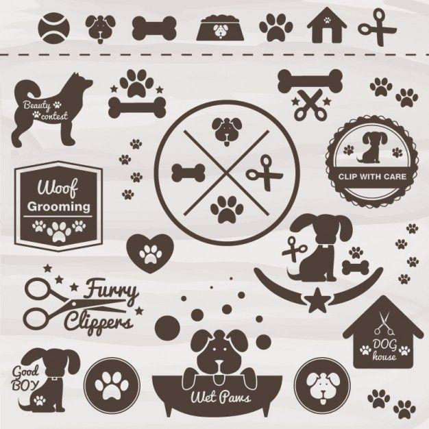 Conjunto de iconos de mascotas Vector Gratis