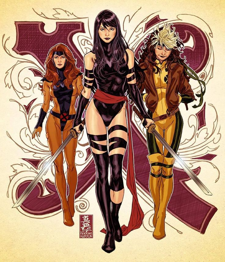 Psylocke, Rogue, and Jean Grey by Mark Brooks *                                                                                                                                                      Mais