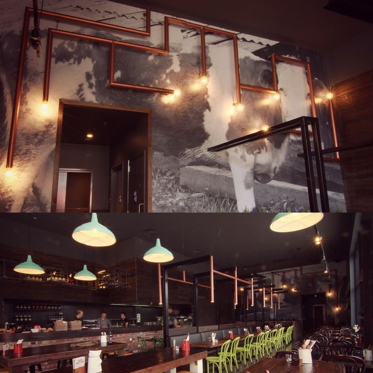 Grill'd restaurant in Northland has a wonderfully atmospheric interior thanks to custom lighting by Ambience Lighting in Melbourne. The site specific lamps were painted in Porter's Paints Liquid Copper and illuminate the interior of the restaurant in the most inviting way. The network of form becomes an artistic installation that is the pièce de résistance! For more information please visit http://porterspaints.com.au/paints/speciality-finishes/liquid-copper--patina-green