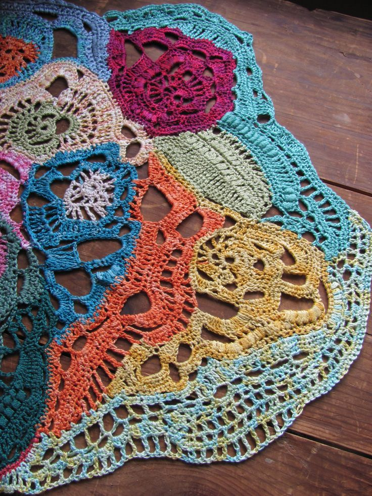 Freeform Crochet Doily                                                       …