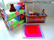 sylvanian families Decorated Bedroom, Bunk/Bed Set For Children + Accessories!