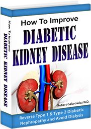 How To Improve Diabetic Kidney Disease Guide PDF. Diabetes runs in my family. My mom, uncle and grandfather had it. When I got diagnosed with type 2 diabetes in my fourties it was no big deal. I should have taken it more seriously, but I didn't.  Nineteen years later I was facing dialysis. I can't say enough of what this Diabetic Renal Diet program did for me. I improved from stage 4 to stage 3 kidney disease, and went from a severe diabetic