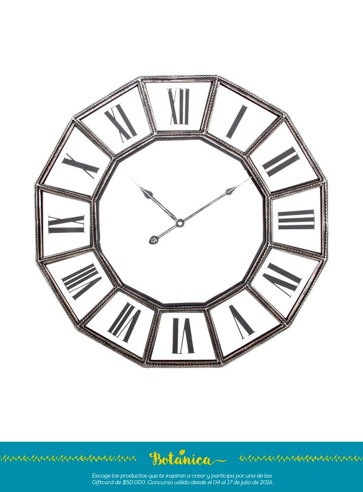 un reloj de pared en números romanos con un estilo clásico y conservador
