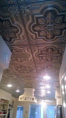Large Snowflake Faux Tin Ceiling Tile 24 X24 206
