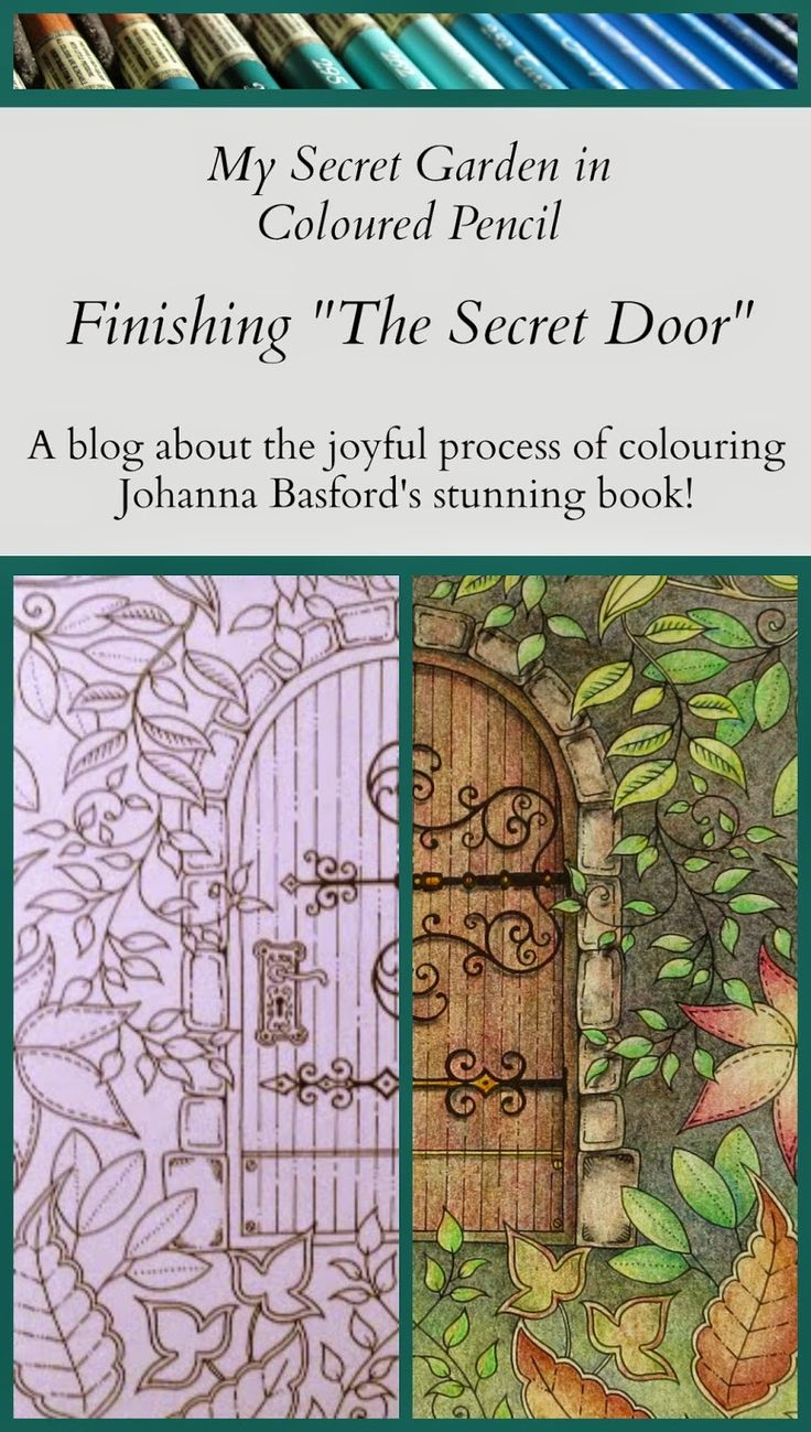 The secret garden coloring book finished - Passion For Pencils My Secret Garden Colouring Book Part 4