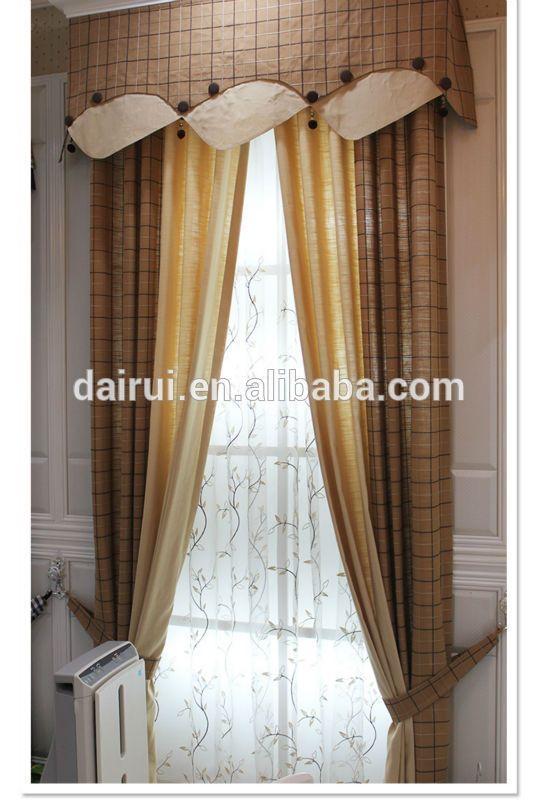 2014 Nuevo- Cortina de hilo de lino europeo para ventana, cortinas teñidas y diseños de cortinas, bastidor y cenefas-imagen-Cortina -Identificación del producto:300005512359-spanish.alibaba.com