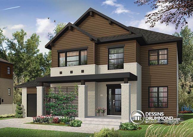 cottage contemporain rustique avec garage maison tage moderne avec 4 chambres 3 salles - Maison Moderne Avectoiture