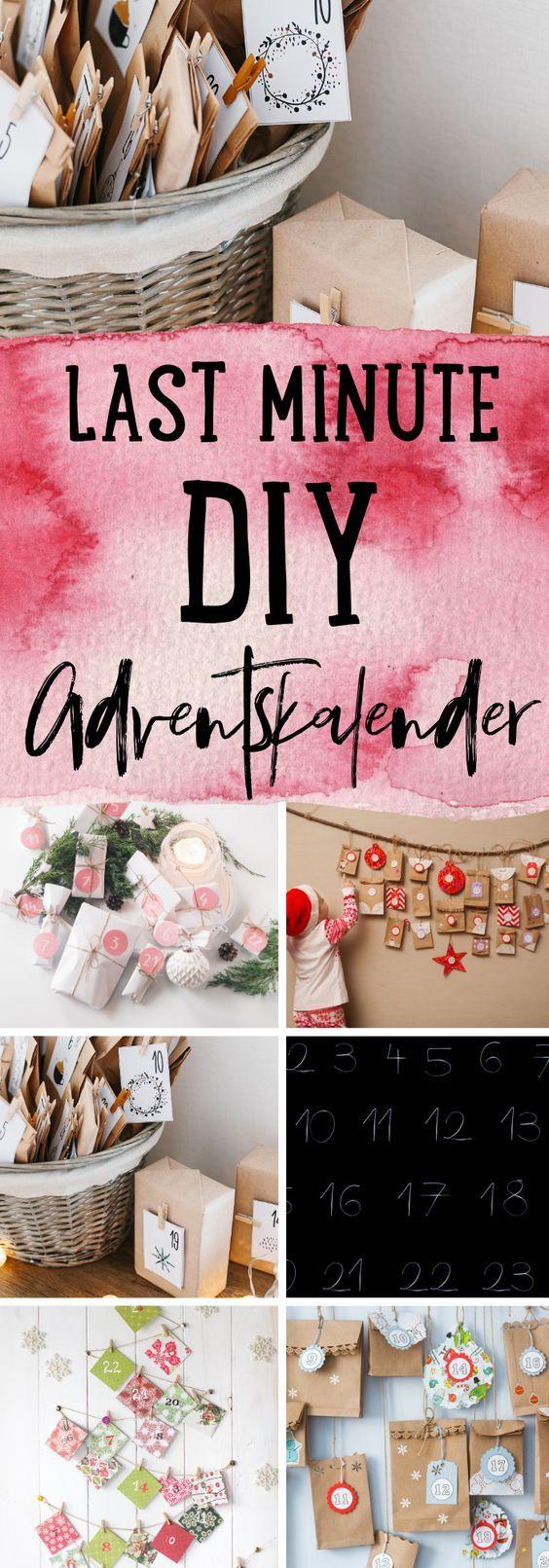 affiliatelink Werbung Last Minute DIY Adventskalender