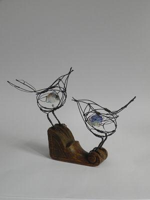 re oiseaux fil de fer