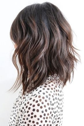 "This shoulder length cut is textured and perfectly exemplifies the term ""Lived In Hair""."