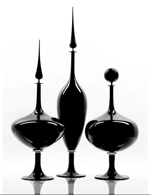 Decantadores de cristal soplado, de Joe Cariati