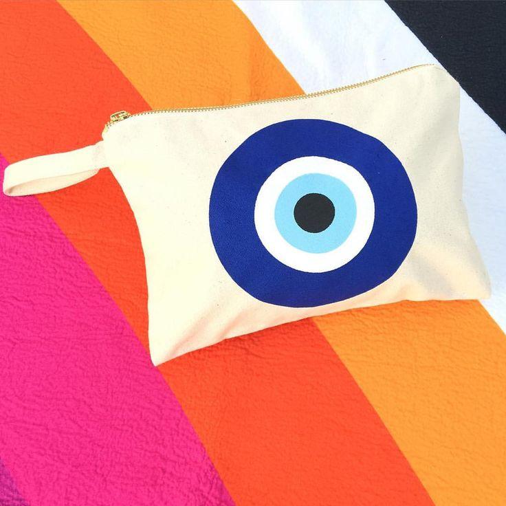 Summer Evil Eye Clutch