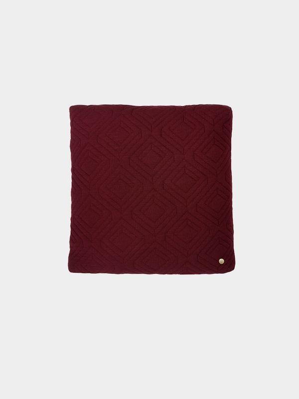 Quilt Cushion - Bordeaux - 45 x 45