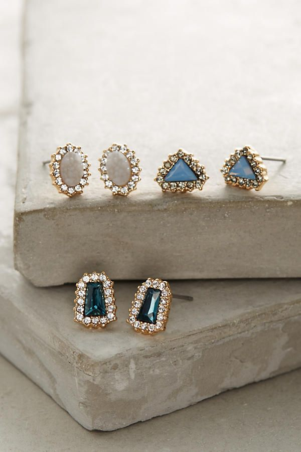 Pave Earring Set