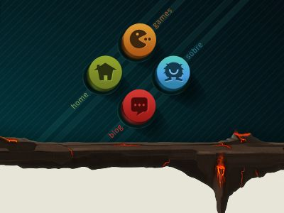 Dribbble - Monster Juice Website - Interface Menu by Rodrigo Bellão