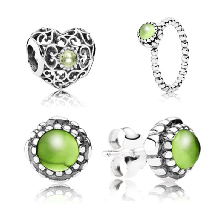 Pandora's birthstone range for August is Peridot in sterling silver.  Peridot is believed to have special healing powers and protect the wearer from nightmares. The August birthstone range includes birthstone earrings, ring and openwork heart perfect gift for August birthdays!  From £35.00 www.knightjewellers.com #KJ #pandora # birthstone #august