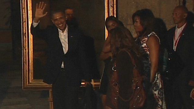 President Obama thanks the Cuban press during historic trip to Old Havana with family.