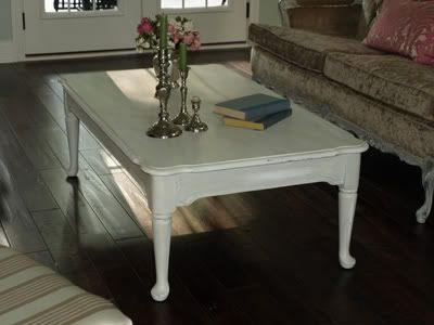 painted distressed second hand coffee table