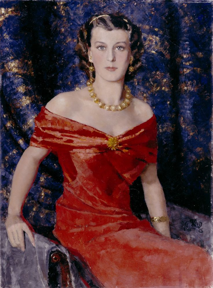 Bror Börjesonin maalaama muotokuva Ester Toivosesta.