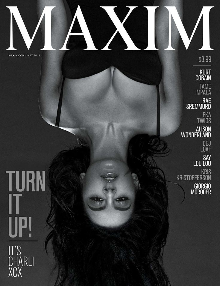Charli XCX stars on the May 2015 cover of Maxim Magazine