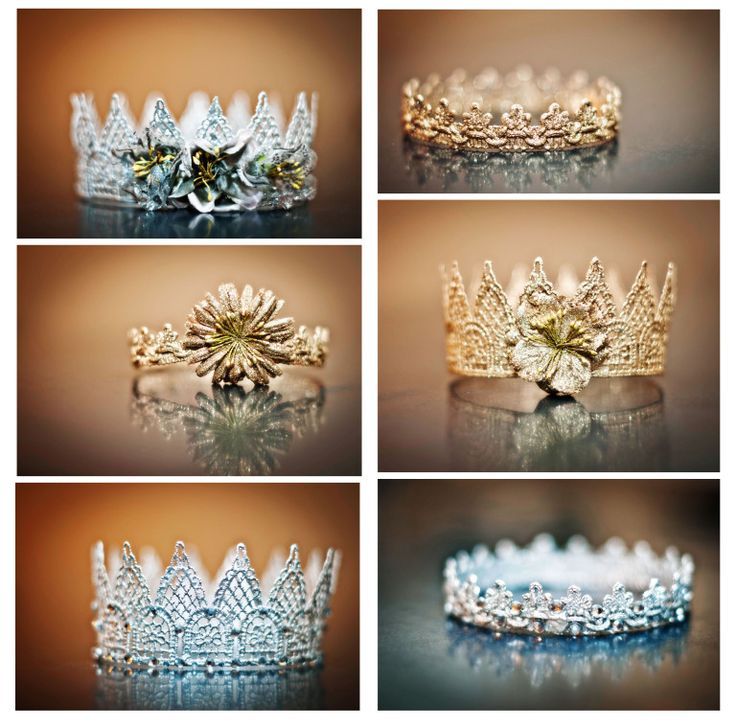 I made these lace crowns to beused as photo props for a couple of projectsI have in the works. You can make these for Halloween, playing dress up, as party favors, etc. They are really easy to ma…