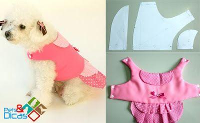 Pets  Dicas: Moldes de roupas para cães grátis