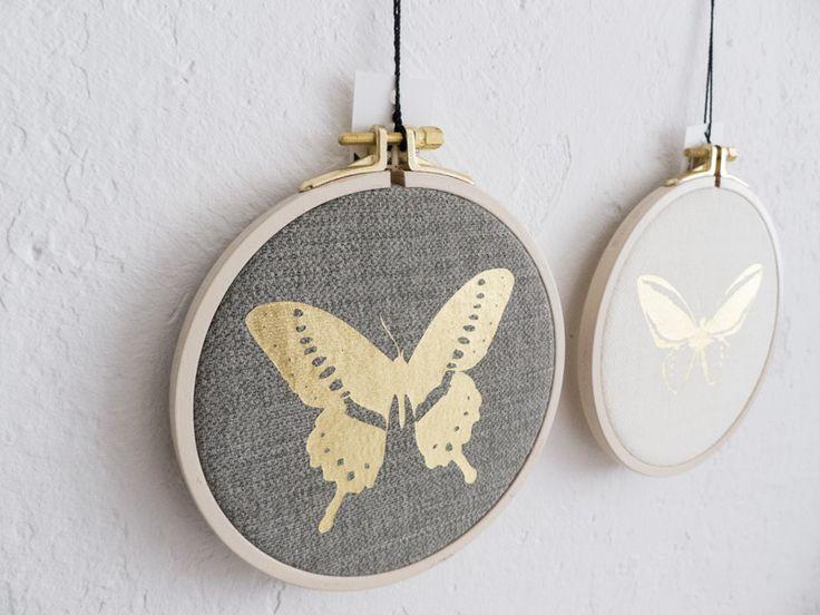Elegant Schmetterlinge im Rahmen Bilder Set Falter