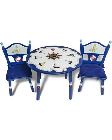 Major-Kids Стол и 2 стула Маленький Капитан  — 24500р. --------- Комплект Стол и 2 стула Маленький Капитан Major-Kids - яркий набор, включающий стол, стульчики, подушки для сидений и несколько игровых фигурок. Материал - древесина, МДФ. Для детей от 18 месяцев.