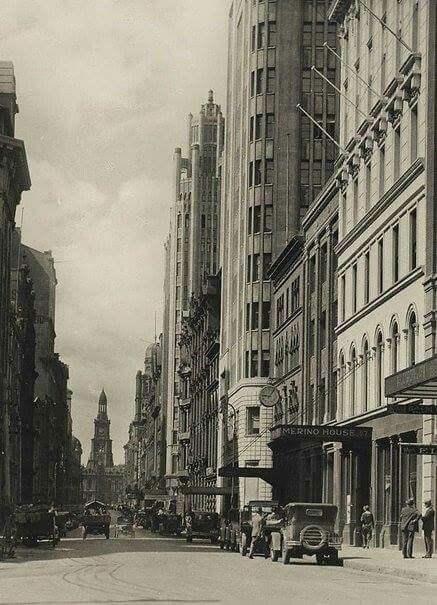 York St,Sydney in the 1930s. State Library of NSW.