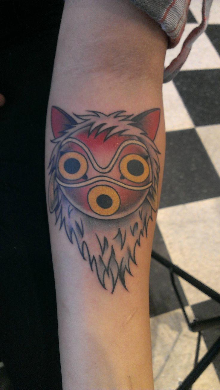 Princess Mononoke Forest God   Inspirational tattoos, Body ...   Princess Mononoke Tattoo Design