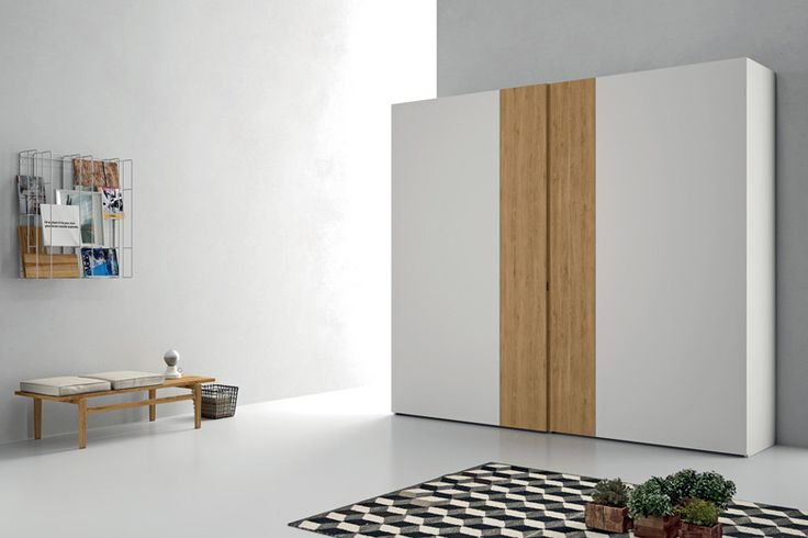 Modern Italian Double Door Closet System, Wood Veneer / Lacquer Finish.