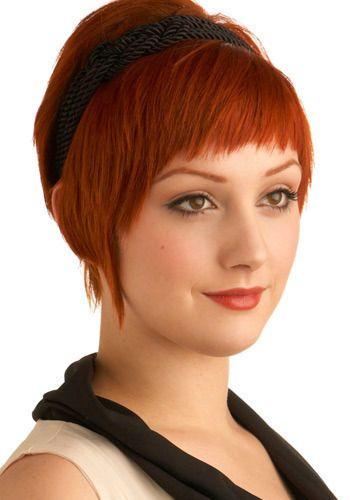 Headband short hair - thick bangs