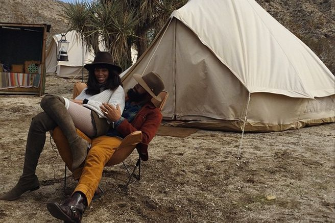 Solange and her husband do glamping right