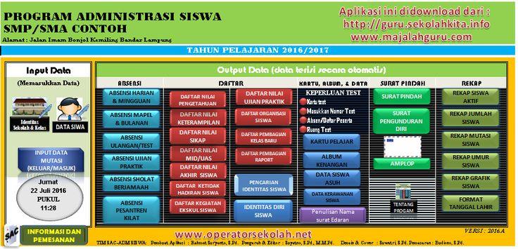 [.xls otomatis] Software Administrasi Siswa SMP SMA Kurikulum 2013 dan Cetak Amplop