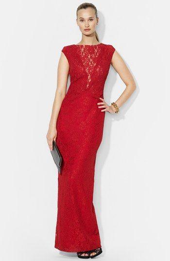 Lauren Ralph Lauren Lace Gown | Nordstrom