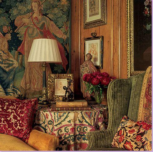 A rich mix of patterns & tones.