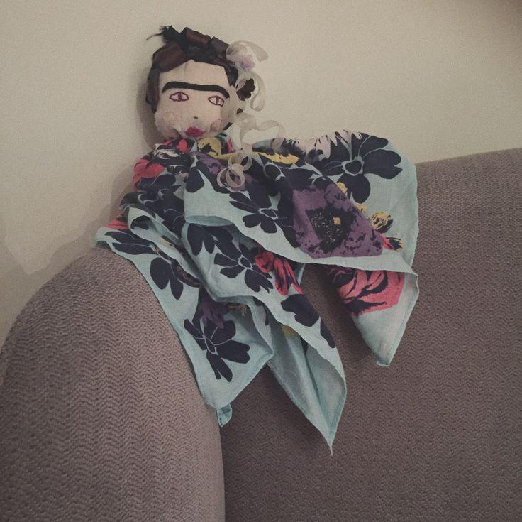 Sitting Frida Kahlo