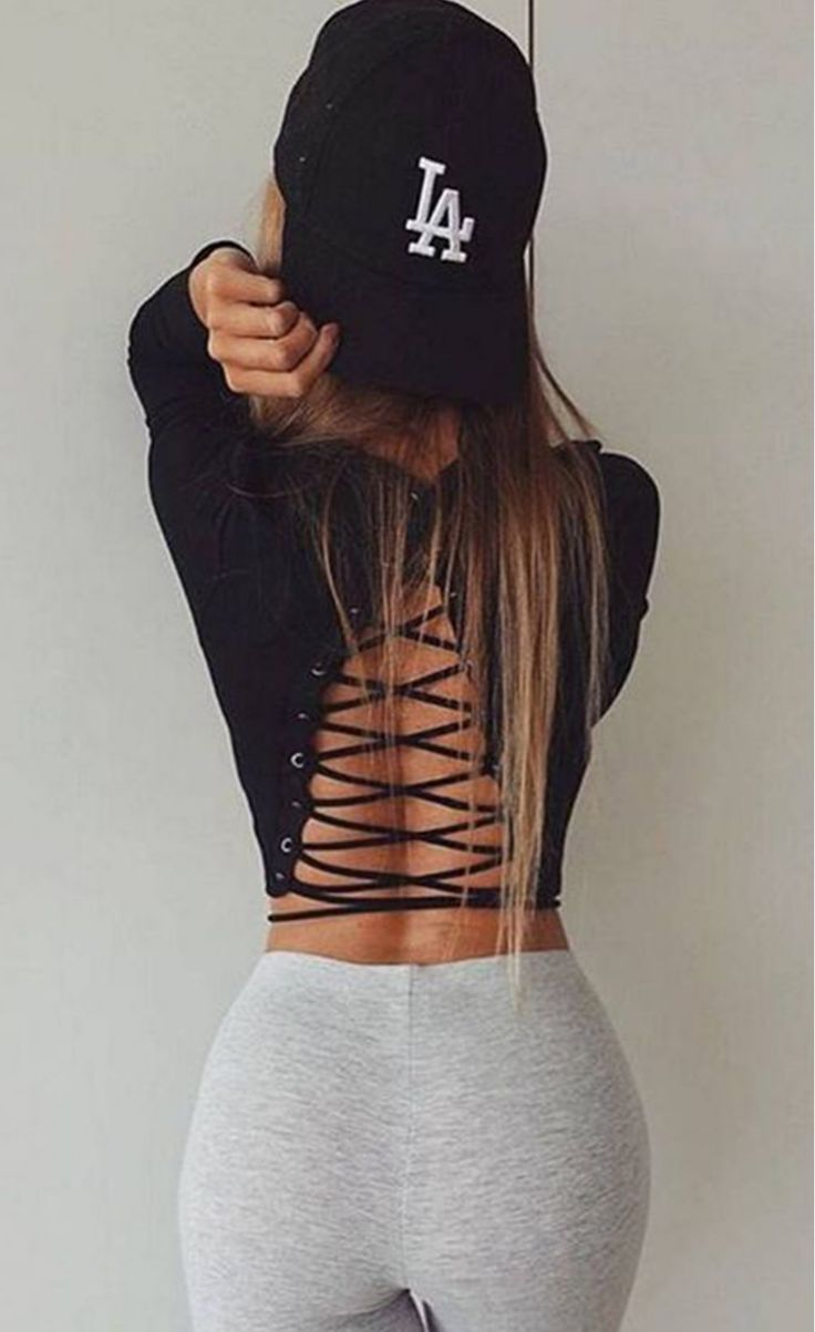 O Neck Lace Up T-shirts Crop Tops