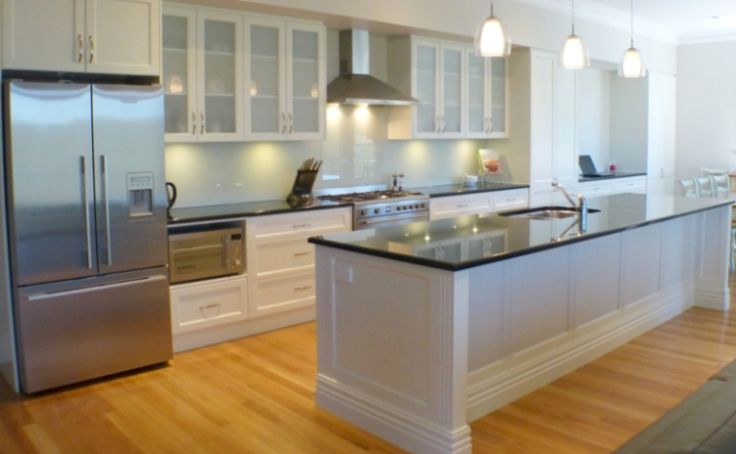 White Kitchen Black Benchtop interesting white kitchen black benchtop dark window with sink and
