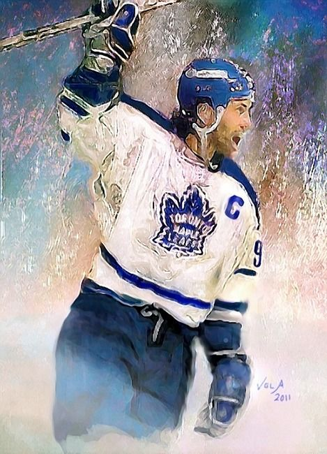 Doug Gilmour, Toronto Maple Leafs, NHL Art by E. L. Vela
