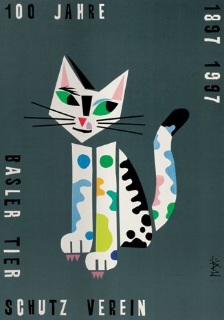 100 Years of the Animal Protection Society 1897-1997 | charity poster, 1997 | Celestino Piatti