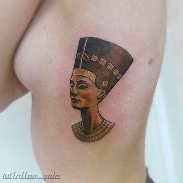 Amazing Nefertiti tattoo by tattoo_gale (insta) Galina Sim