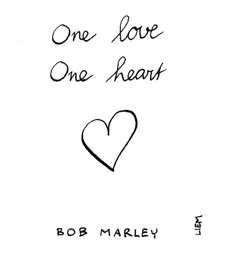 Bob Marley. One Love (People Get ready). 365 illustrated lyrics project, Brigitte Liem.