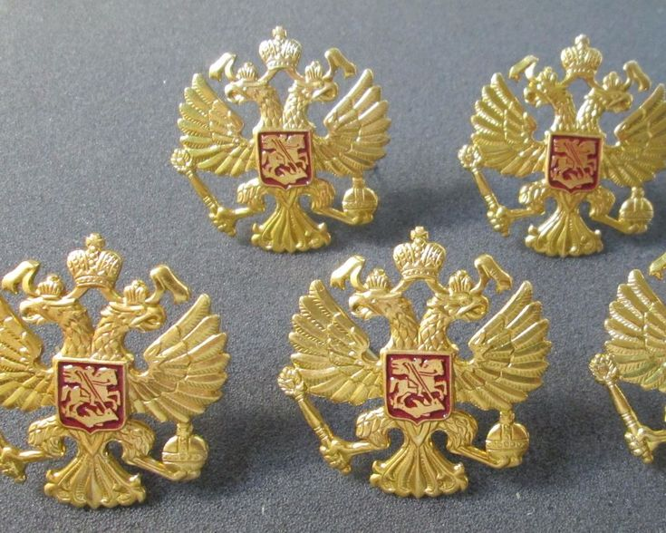Russian Imperial double-headed eagle icon 5-piece 53 x 53 millimeters
