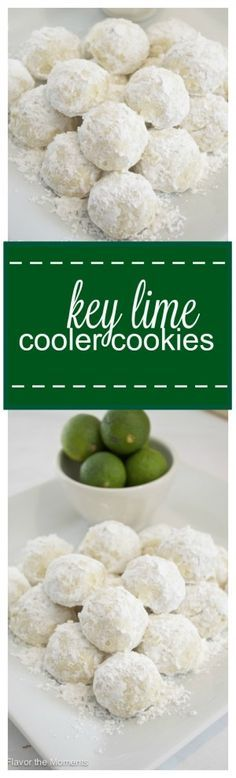 Key Lime Cooler Cookies are soft, buttery, and bursting with fresh key lime flavor! @FlavortheMoment