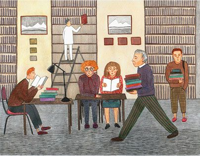 """Check out new work on my @Behance portfolio: """"Library"""" http://be.net/gallery/41058959/Library"""