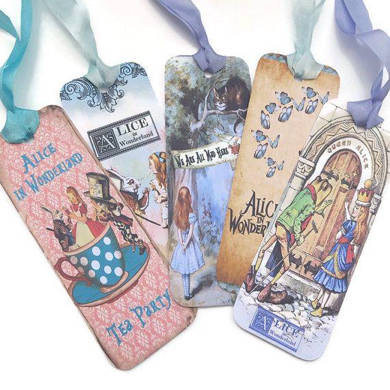 Bookmarks Alice in Wonderland Vintage Retro by EnchantedQuilling