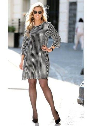 Rozšířené šaty s potiskem #ModinoCZ #exl #plussize #beauty